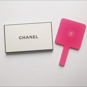 Chanel Handheld Mirror in Pink Acrylic